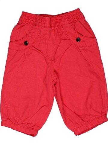Pantalon fille DPAM rouge 3 mois hiver #1003037_1