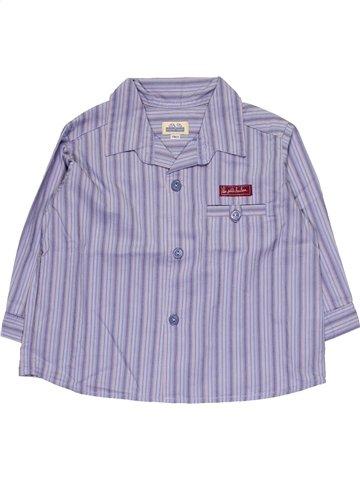 Chemise manches longues garçon SERGENT MAJOR violet 18 mois hiver #1063174_1