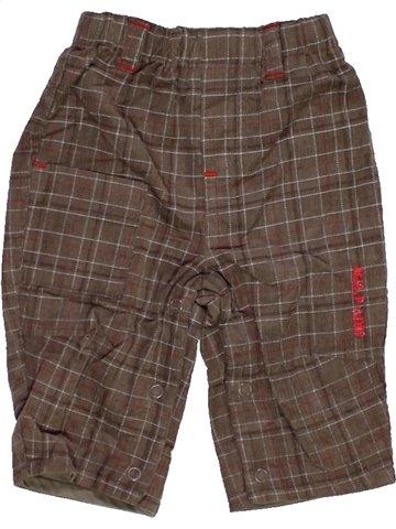 Pantalon garçon SUCRE D'ORGE marron 3 mois hiver #1079870_1