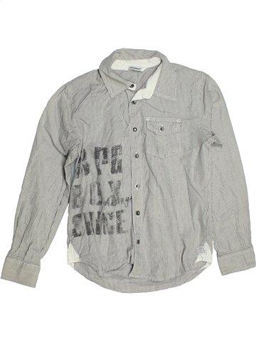 Chemise manches longues garçon 3 POMMES gris 10 ans hiver #1100545_1