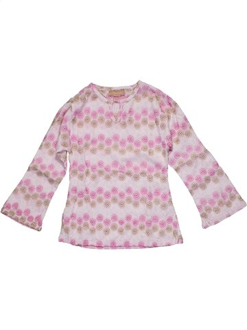 Blouse manches longues fille ORCHESTRA rose 6 ans hiver #1103792_1