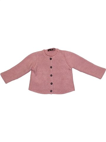 Gilet fille BOUT'CHOU rose 6 mois hiver #1109366_1