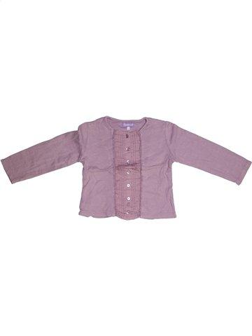 T-shirt manches longues fille COUDÉMAIL violet 3 ans hiver #1143713_1