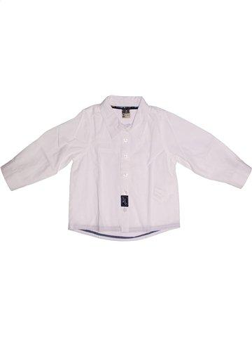 Chemise manches longues garçon TAPE À L'OEIL blanc 18 mois hiver #1146460_1