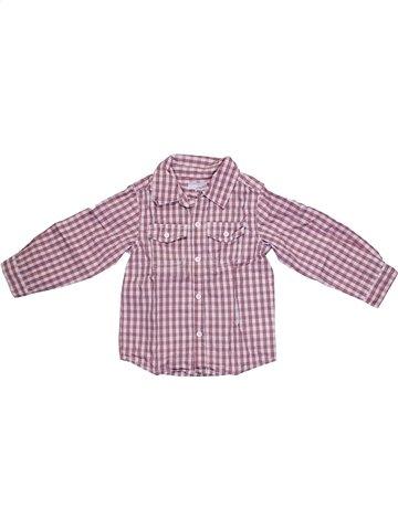Chemise manches longues garçon KIMBALOO violet 2 ans hiver #1159471_1