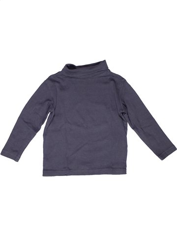 T-shirt col roulé garçon VERTBAUDET bleu 3 ans hiver #1160010_1