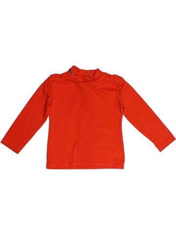 T-shirt manches longues fille CONFETTI rouge 2 ans hiver #1161705_1