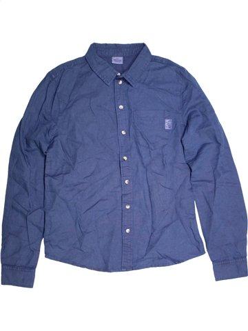 Chemise manches longues garçon TAPE À L'OEIL bleu 14 ans hiver #1165801_1