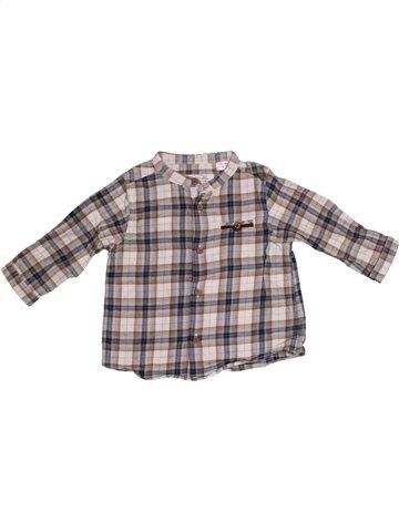 Chemise manches longues garçon ZARA gris 6 mois hiver #1169940_1