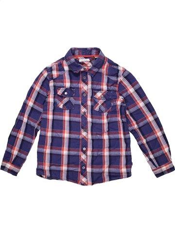 Chemise manches longues garçon OKAIDI bleu 8 ans hiver #1171388_1