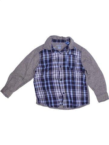 Chemise manches longues garçon OKAIDI gris 3 ans hiver #1178873_1