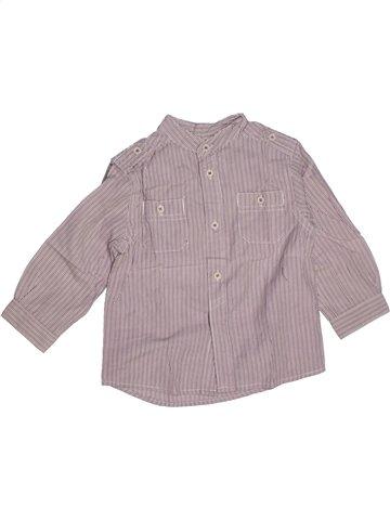 Chemise manches longues garçon LA REDOUTE CRÉATION violet 18 mois hiver #1179364_1