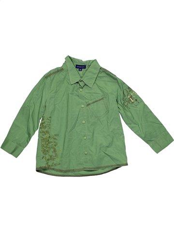 Chemise manches longues garçon TERRE DE MARINS vert 3 ans hiver #1181086_1