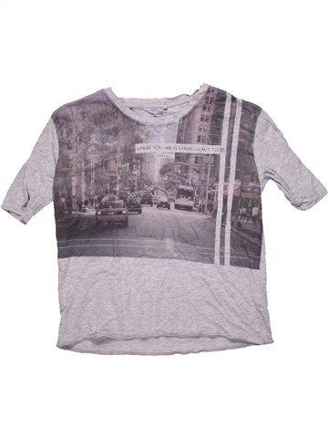T-shirt manches courtes fille TEDDY SMITH gris 14 ans été #1184440_1