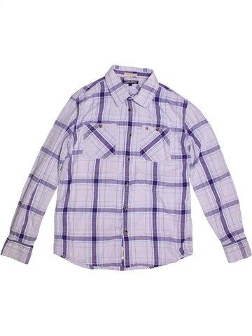 Chemise manches longues garçon TOMMY HILFIGER blanc 14 ans hiver #1184623_1