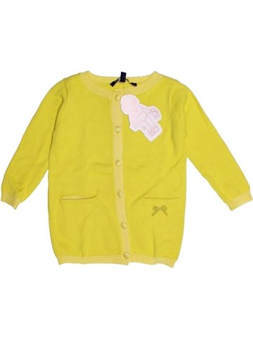 Chaleco niña LILI GAUFRETTE amarillo 2 años invierno #1196091_1