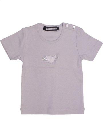 T-shirt manches courtes fille LE PHARE DE LA BALEINE gris 2 ans été #1196563_1