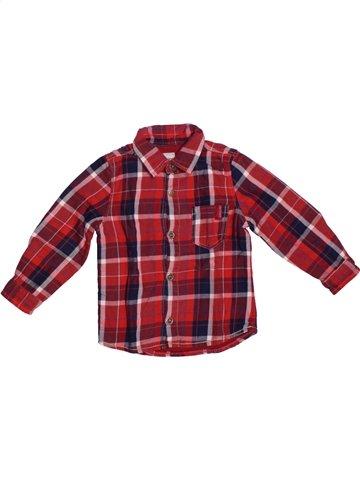 Chemise manches longues garçon JEAN BOURGET marron 2 ans hiver #1196891_1