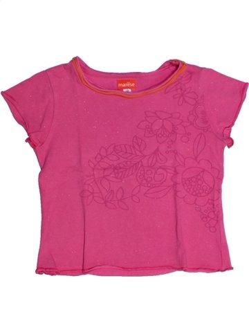 Camiseta de manga corta niña MARÈSE rosa 5 años verano #1197617_1