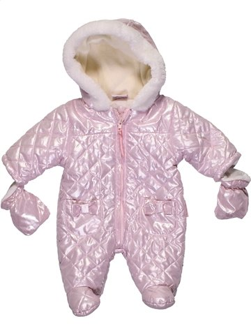 Combi-Pilote fille CUTE BABY rose naissance hiver #1204124_1