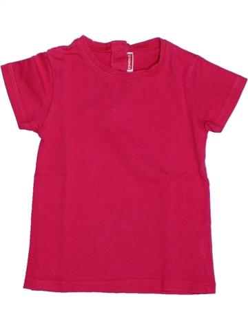 T-shirt manches courtes fille DPAM rose 2 ans été #1205907_1