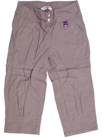 Pantalon fille 3 POMMES gris 2 ans été #1207613_1