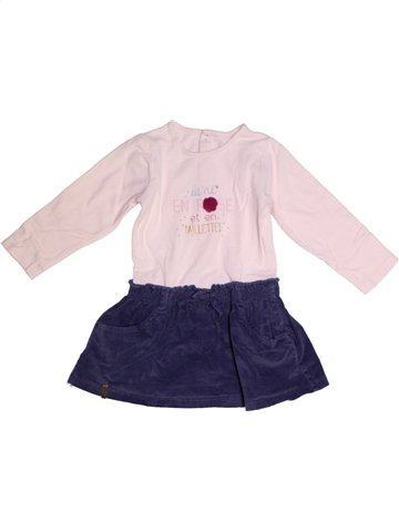 Robe fille SUCRE D'ORGE rose 2 ans hiver #1210583_1