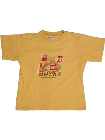 Camiseta de manga corta niño MARÈSE amarillo 6 años verano #1211087_1