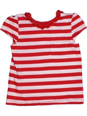 T-shirt manches courtes fille GEORGE rose 2 ans été #1213545_1