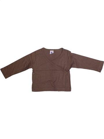 T-shirt manches courtes fille PETIT BATEAU marron 2 ans été #1214611_1