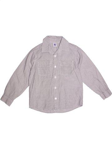 Camisa de manga larga niño PETIT BATEAU gris 6 años invierno #1215428_1