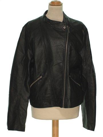 Vestes cuir simili femme PEACOCKS 46 (XL - T3) hiver #1216595_1