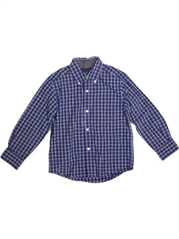 Chemise manches longues garçon TOMMY HILFIGER bleu 5 ans hiver #1222968_1