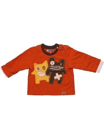 T-shirt manches longues garçon CATIMINI orange 6 mois hiver #1224046_1