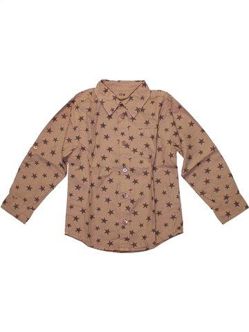 Camisa de manga larga niño CFK marrón 4 años invierno #1224548_1