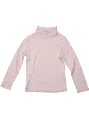 Camiseta de cuello alto niña MONOPRIX violeta 4 años invierno #1224895_1