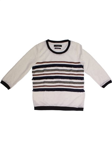 Pull fille TEDDY SMITH blanc 12 ans hiver #1226362_1