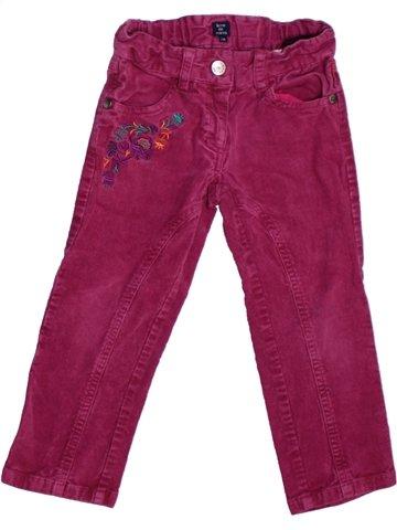 Pantalón niña TERRE DE MARINS violeta 2 años invierno #1226581_1