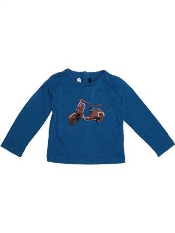T-shirt manches longues fille LILI GAUFRETTE bleu 2 ans hiver #1228146_1