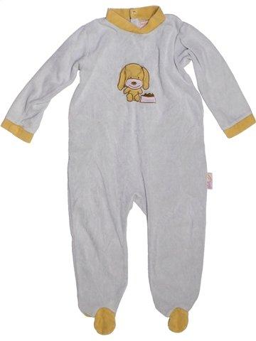 Pijama de 1 pieza niño LES KINOUSSES gris 2 años invierno #1229610_1