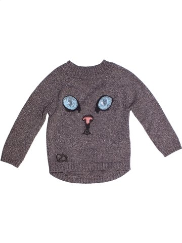 Pull fille LONGBOARD gris 2 ans hiver #1232576_1