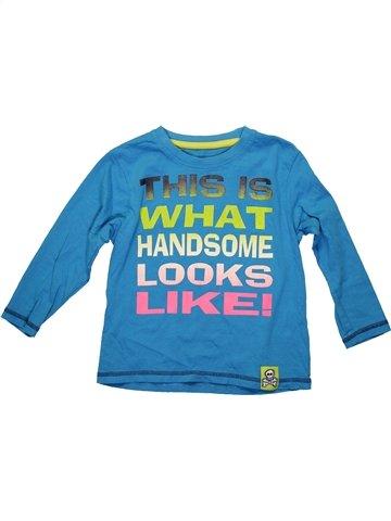 T-shirt manches longues garçon DUNNES STORES bleu 5 ans hiver #1233521_1
