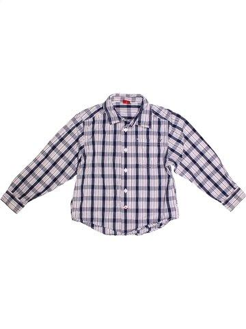 Chemise manches longues garçon S OLIVER gris 7 ans hiver #1234280_1