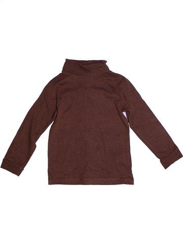 Camiseta de cuello alto niño MONOPRIX violeta 4 años invierno #1235260_1