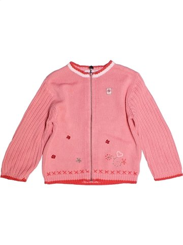 Chaleco niña BERLINGOT rosa 4 años invierno #1237650_1