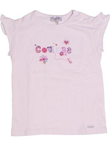 T-shirt manches courtes fille ALPHABET rose 2 ans été #1237745_1