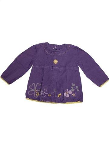Blusa de manga larga niña TERRE DE MARINS violeta 2 años invierno #1239038_1