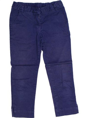 Pantalon fille CYRILLUS bleu 7 ans hiver #1239141_1