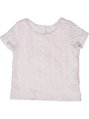 T-shirt col roulé fille DUNNES STORES blanc 11 ans été #1243436_1