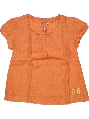 Blouse manches courtes fille CAPTAIN TORTUE orange 8 ans été #1244824_1